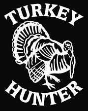 White Vinyl Turkey Hunter Decal Car Truck Hunting Gobbler