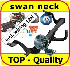 Towbar & Electrics 7pin 12N Citroen Berlingo 2008 - onwards / swan neck Tow Bar