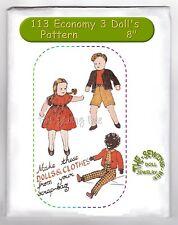 113 Black American Economy Design 3 Rag Doll pattern vintage