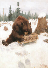"Philip Goodwin, HUNGRY BEAR, Cream of Wheat Advertisement, 16""x11""  Art Print"
