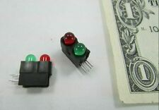 Lot 10 Dual Solder Mounted LEDs Red & Green Miniature Traffic Signal Model Train