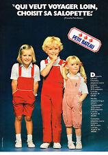 PUBLICITE ADVERTISING  1980   PETIT  BATEAU   pret à porter enfants