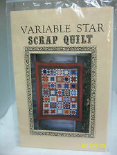 """LOVE QUILTS PATTERNS """"VARIABLE STAR SCRAP QUILT"""" QUILT SEWING PATTERN UNUSED"""
