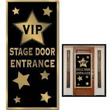 VIP Stage Entrance Door Cover - 152 x 76 cm - Golden Hollywood Party Decoration