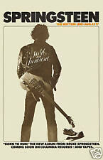 Classic Rock: Bruce Springsteen Bottom Line Club in New York Poster 1975 12x18