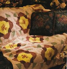 VINTAGE LOOK Poppies Afghan/Crochet Pattern INSTRUCTIONS ONLY