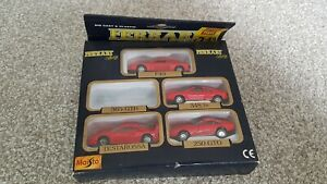 Maisto Ferrari Collection of 4 Cars 1:64 Scale 1980's Woolworths