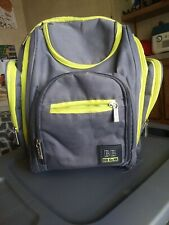 Baby Boom Bb Gear Diaper Bag Back Pack Gray With Green