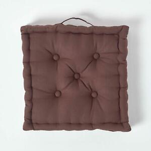 """Armchair Booster Cushion, Brown, Size 45 x 45 x 10 cms, 18"""" x 18"""" x 4"""""""