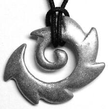 "Tribal design pendant (""Koru-fern"") charm, Maori symbol peace, tranquility"