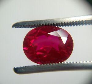 Oval Cut 10 x 8 mm Lab Created Ruby Loose Gemstone