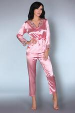 LIVCO CORSETTI Tomana Luxury Soft Satin Pyjama Top and Matching Bottoms Set