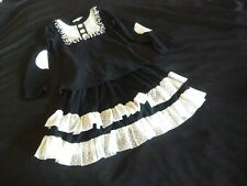 Oopsie Daisy Boutique Black White Long Sleeve Top Ruffle Skirt Outfit 6
