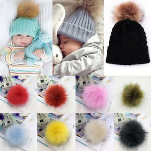 Fluffy Faux Fur Pompom Ball with Rope Band For Hats Clothes DIY Accessories
