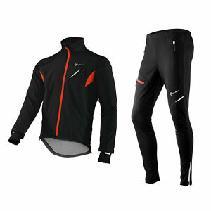 RockBros Cycling Winter Windproof  Fleece Thermal Warm Jacket Trousers and Set
