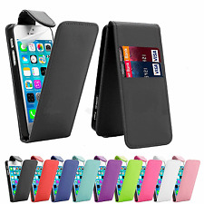FLIP LEATHER PHONE CASE WITH CARD SLOT FOR Apple iPhone 4/4S UK free post