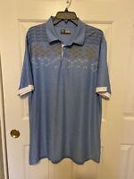 XL Men's CALLAWAY Polo Golf Shirt Opti-Dri Short Sleeve Light Blue
