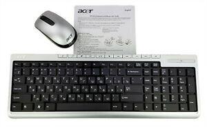 NEW ACER WIRELESS KEYBOARD AND MOUSE FOR PC LAPTOP COMPUTER RUSSIAN
