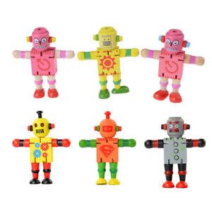 Creative Wooden Robot Learning & Educational Kids Early Learning HFUKMBUK