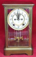 Ansonia Brass Skeleton Mercury Pendulum Mantel Clock - Vintage - Mantle