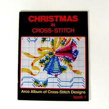 Christmas In Cross-Stitch Book 1 1985 Arco 28 Pages of All Color Designs