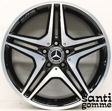1 CERCHIO IN LEGA MERCEDES A CLA B 18 ORIGINALE AMG NERO DIAMANTATO A1764010302