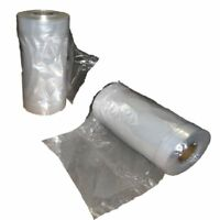1 ROLL CLEAR POLYTHENE PLASTIC GARMENT COVERS FILM DRY CLEANERS BAGS CLOTHE BAGS