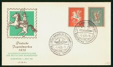Mayfairstamps Germany FDC 1958 Mail Carrier Horse First Day Cover wwp_87433