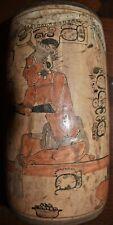 "Sale! Pre Columbian Mayan Crypt Vase, Glyphs huge 7-8"" Prov"