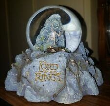 Lord of The Rings Neca Snowglobe 2002 Featuring Gollum, Frodo and Sam