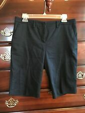 New York & Company Bermuda Walking Shorts Navy Size 8