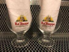 Le TRAPPE TRAPPISTENBIER ~ SET of 2 RARE 2010 ~ Beer Stemmed Tulip Glass J