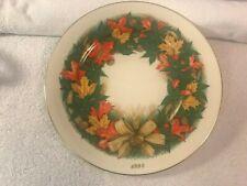 Lenox Thanksgiving Plate America's Bounty 1st Annual Fall Leaves Ch4145