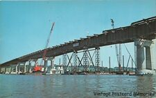 LeCLAIRE IA '66 Key Section  I-80 Bridge Over Mississippi River Being Installed
