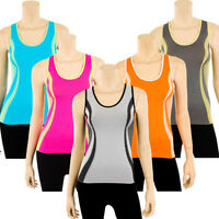 Womens Racerback Tank Top Workout Gym Sport Yoga Seamless Stretch One Size S M L