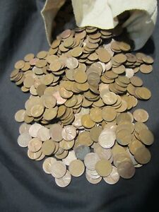 5000 MIXED WHEAT CENTS PENNIES...1909-1958. WITH BONUS 1909 V.D.B. LOOK!