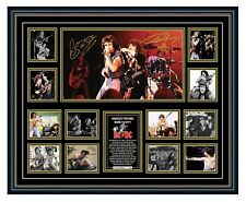 ACDC BON SCOTT & ANGUS YOUNG SIGNED POSTER LIMITED EDITION FRAMED MEMORABILIA