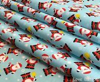 Blue Polar Bear Christmas Polycotton Craft Fabric 112cm Wide @ £2.64 per mtr.