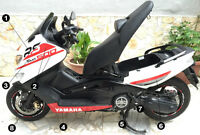 Kit adesivi TMAX 500 RS scooter Yamaha T MAX stickers racing moto tuning
