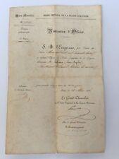 NOMINATION ORDRE IMPERIAL DE LA LEGION HONNEUR  GRANDE CHANCELLERIE 1862 C2553