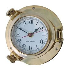Brass Ships Porthole Clock - Solid Brass - Small - New - BS38