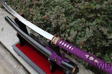 "46.9"" Battle Ready Japanese Naginata Sword Copper Tsuba Full Tang +Customization"