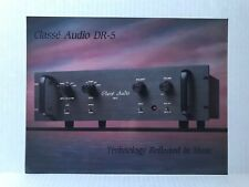 Original Classé Audio DR-5 Preamplifier Phono Specifications Sales Flyer Manual