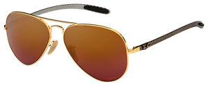 Ray-Ban Sunglasses RB 8317CH 001/6B 58 Gold/Purple Mirror Chromance Polarized