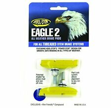 Kool Stop Eagle Claw 2 Bicycle Brake Shoes (Threaded, Yellow)