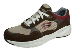 Skechers Meridian Ostwall Mens Walking Trainers Comfortable Shoes - Brown