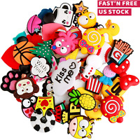 Shoes Charms PVC Different Shape Mixed Lot For Clog Jibbitz Shoe Wristband 50 PC