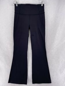Lululemon Women's Size 8 Groove Flare High Rise Black Pant - FLAW