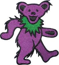 Grateful Dead Dancing Bear Purple New Sew/Iron on Patch rock music band coat