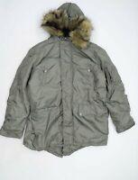 Lee Cooper Mens Size M Green Coat